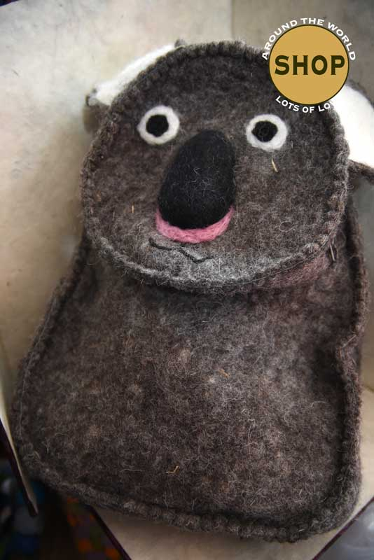 Handgemaakt vilt kinder Rugzak Koala 5358. Speelgoed, tas.