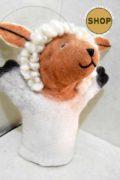 Handgemaakt vilt handpop wit schaap 5406 Speelgoed, dieren. Shop Around the World